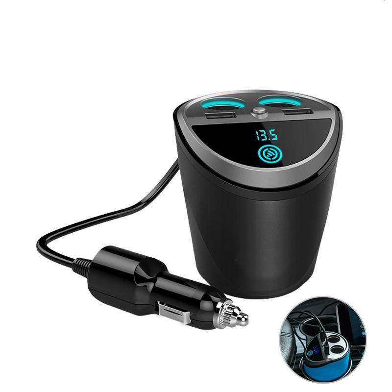 Multifunktions 12-24 v Auto Auto Zigarette Leichter Dual USB Ladegerät Adapter Tasse Geformt für Smart Telefon