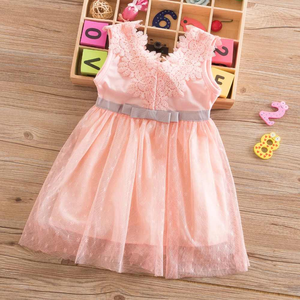 510790dd859c Summer Baby Forcks Kids Tutu Dresses For Girls Bebes First Birthday Outfit  Infant Party Vestido Dress