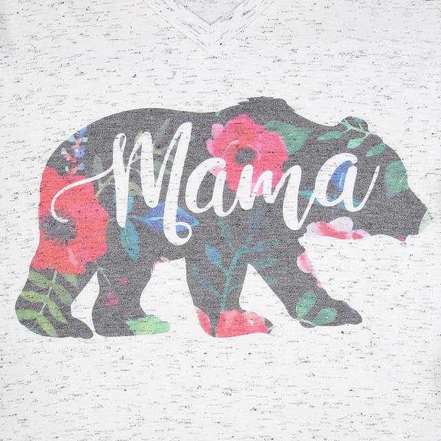 MAMA BEAR FLORAL T-SHIRT