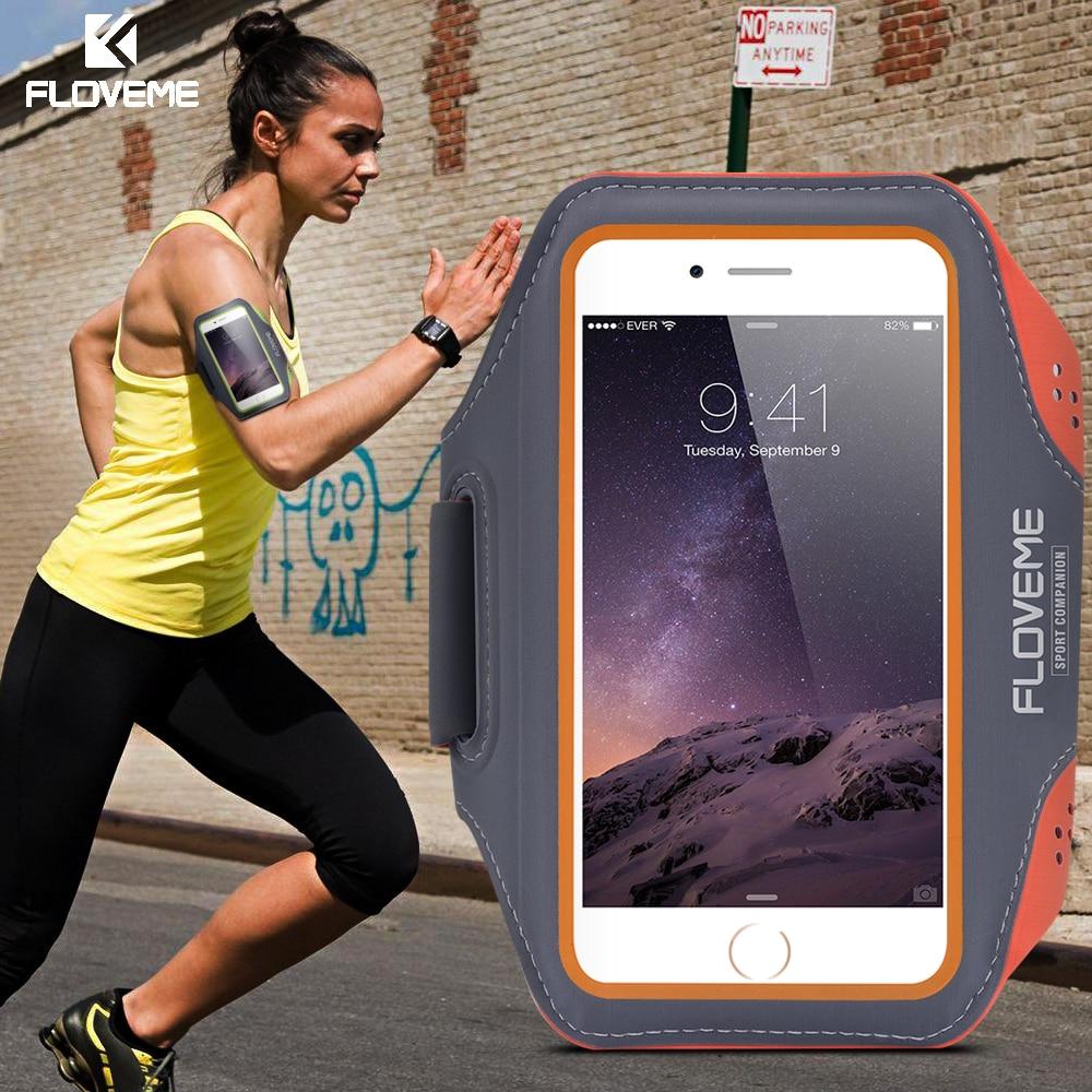 FLOVEME Waterproof Sport Case For Samsung Galaxy S7 S6 Edge Cases S8 S9 Plus S5 S4 Note 5 4 3 A5 A7 Arm band Cover for Running