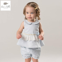 DB5052 Dave Bella Summer Baby Girls Clothing Sets Child Lovely Sets Kids Toddle Cloth Baby Fancy