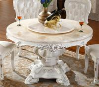 Free Shipping To Chelyabinsk French Style Marble Top Dinning Table