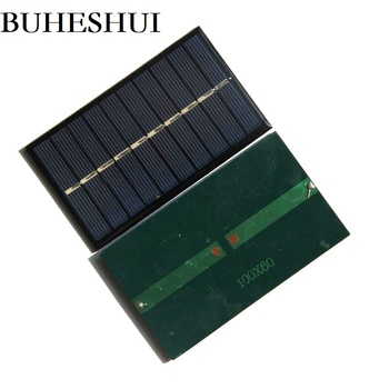 BUHESHUI Solar Panel 150MA 5V Solar Cell Module Polycrystalline Solar Battery Charger Study Toy 100*60MM 50pcs Free Shipping