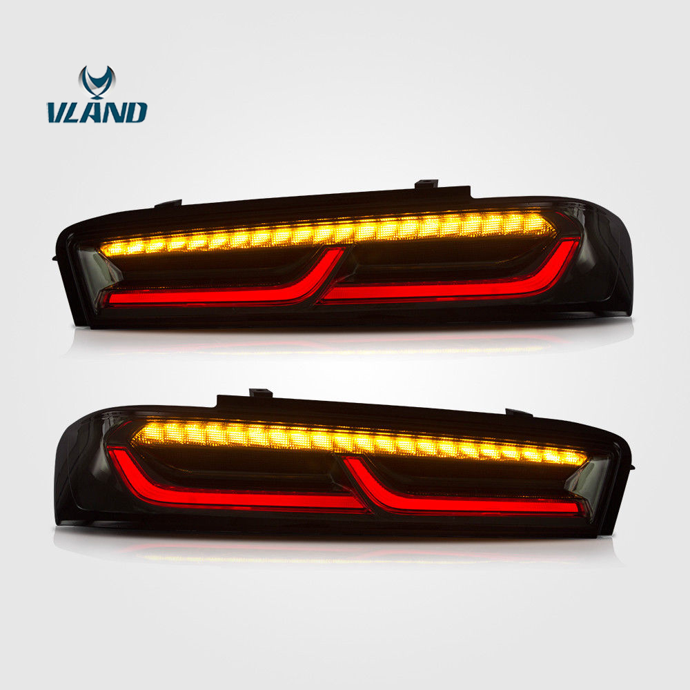 Vland Led Taillight For Chevrolet Camaro 2015-2017 6th Tail light Smoke Lens Rear Lamp free shipping for vland car tail lamp for civic led taillight 2016 2017 with spoiler light all led design