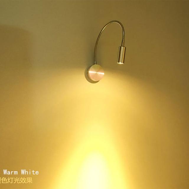 Flexible Metal HoseLED Wall Light 1 3w LED Reading Light LED Gooseneck Light  Hotel Lamp