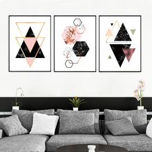 Modern Abstract Black Geometric Shapes Canvas Painting A4 Poster Print Wall Art Picture Nordic Living Room Decoration Unframed