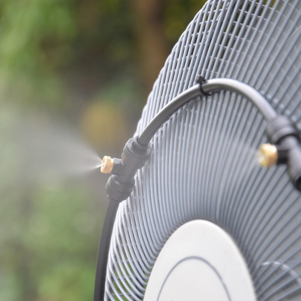 Outdoor Misting Fan Patio Cooling Breezy Air Mister Spray