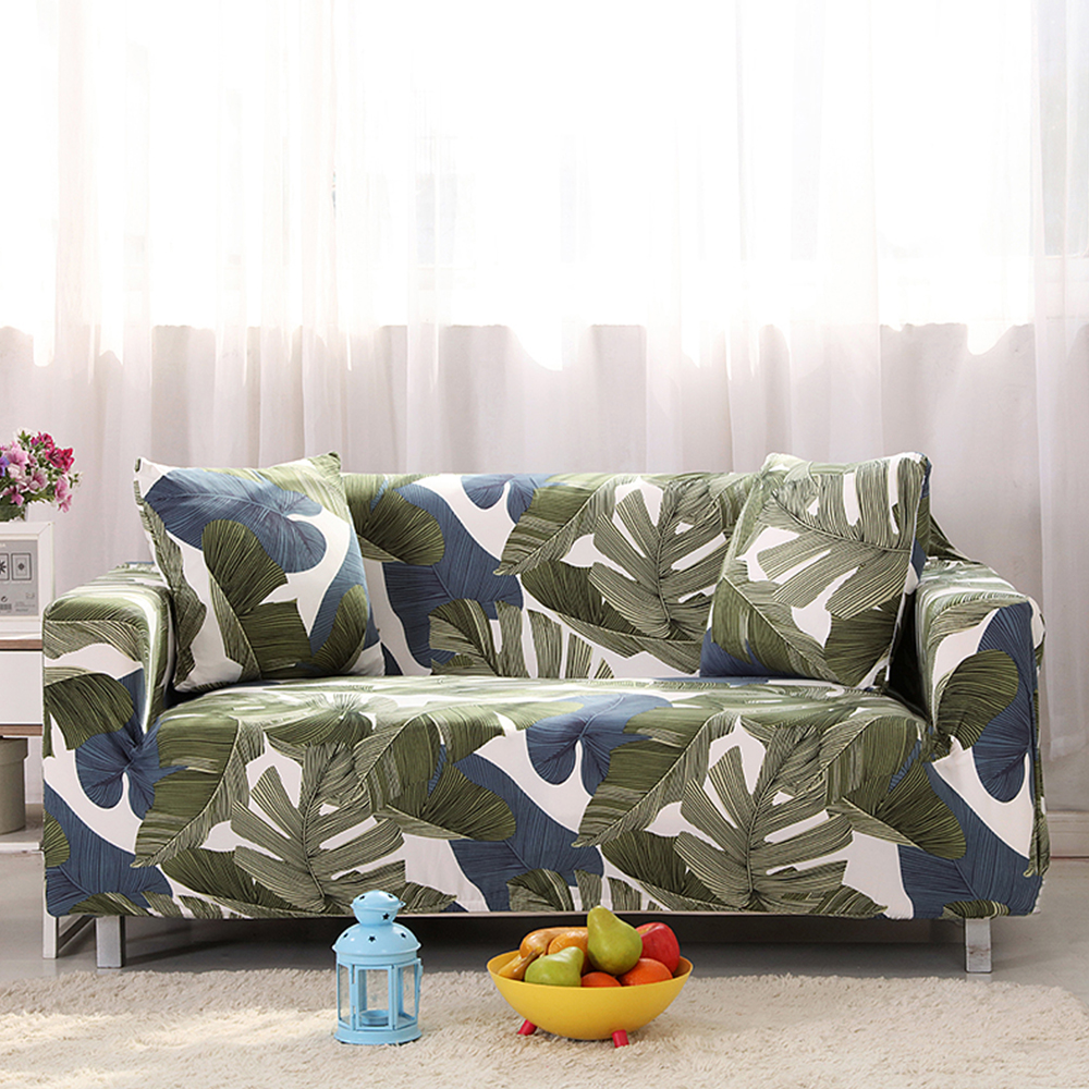 Single sofa chair price - Yazi Fit Stretch Green Leaf Sofa Cover For Single Double Seat Slipcover 1 2 3 4
