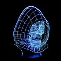 Skull Head Colorful Light Touch Sensor Sensitive LED Novelty Night Lights USB Light Glowing Child S