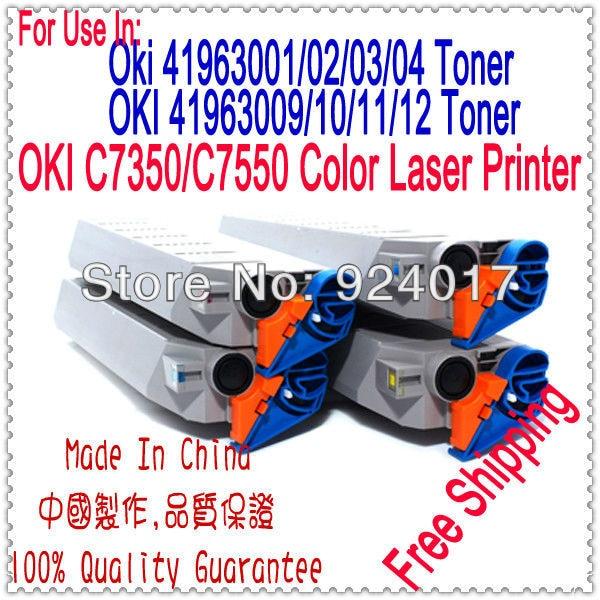 For Oki Data C7350N C7350DN C7350DTN C7550N C7550HDN Printer Toner Cartridge,For Oki C7350 C7550 Color Refill Toner Cartridge