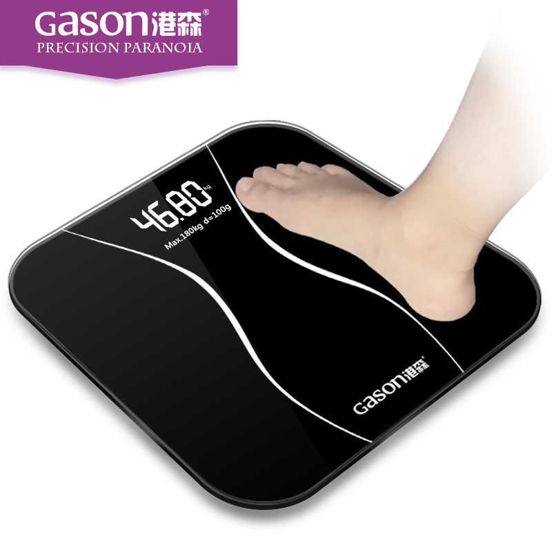 Gason A2 lcd affichage ménage plancher balances corps électronique numérique salle de bains pesant balance balance