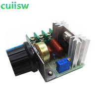 2000W Voltage Regulator AC 220V Kontrol Kecepatan Motor Brushless Elektronik Thyristor Dimmer Suhu Control Switch