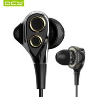 QCY Y1 Earphones Hifi Enthusiast Bass In Ear Earbuds Dual 6MM Speakers Unit Anti Noise Microphone