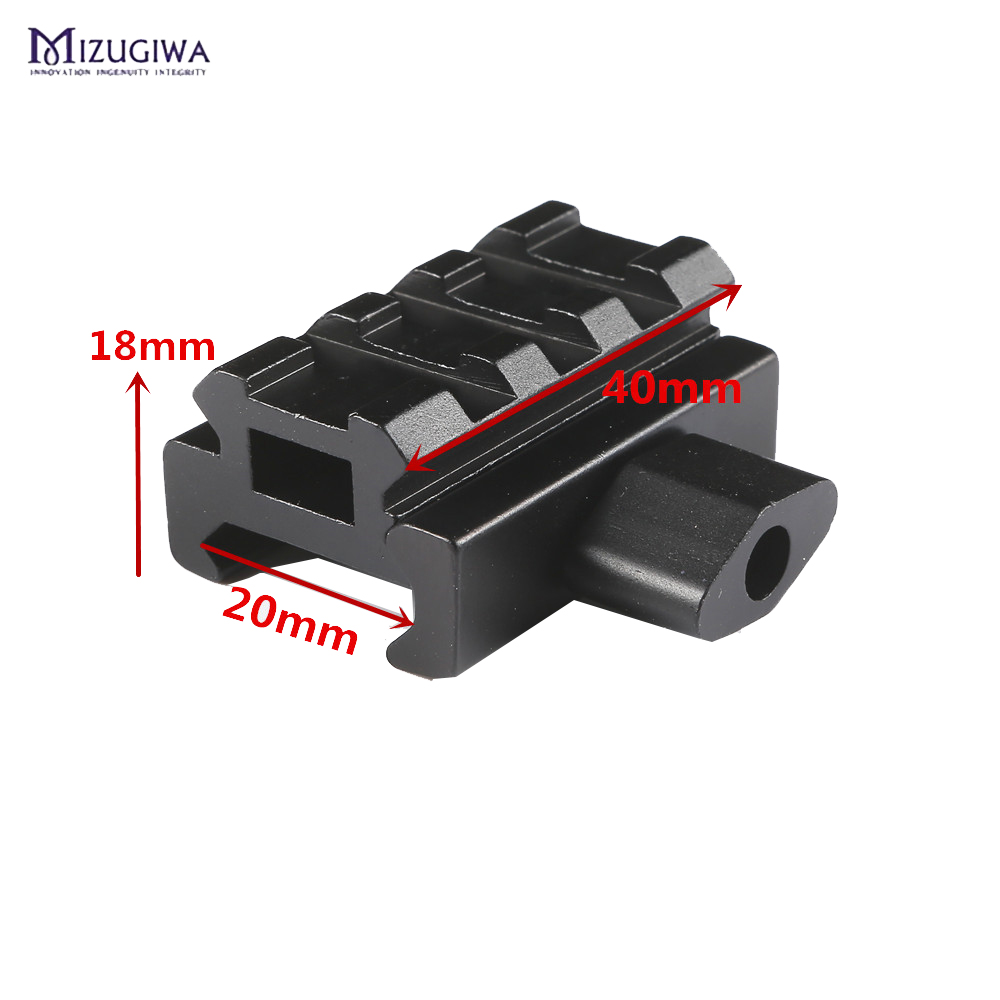 1PC Quick Release Scope Mount Adapter Riser Mount 4 Picatinny Slots Riser Rail Bracket For 20mm Rail Dovetail Extend Rise Mount