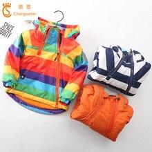 Осенне зимняя верхняя одежда для детей теплое пальто утепленные водонепроницаемые ветрозащитные куртки с капюшоном для мальчиков и девочек 2019
