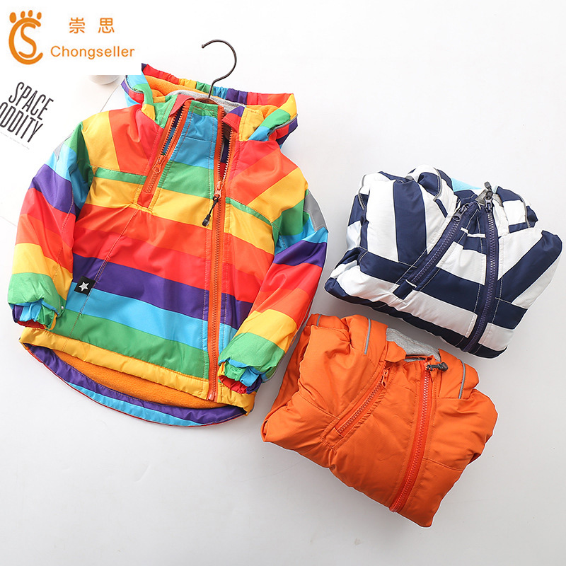 Autumn Winter Children Outerwear Warm Coat Hooded thickening Waterproof Windproof Boys Girls Jackets 2019