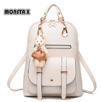 Monsta X Fashion Women Backpack New Spring And Summer Students Backpack Women Korean Style Backpack High