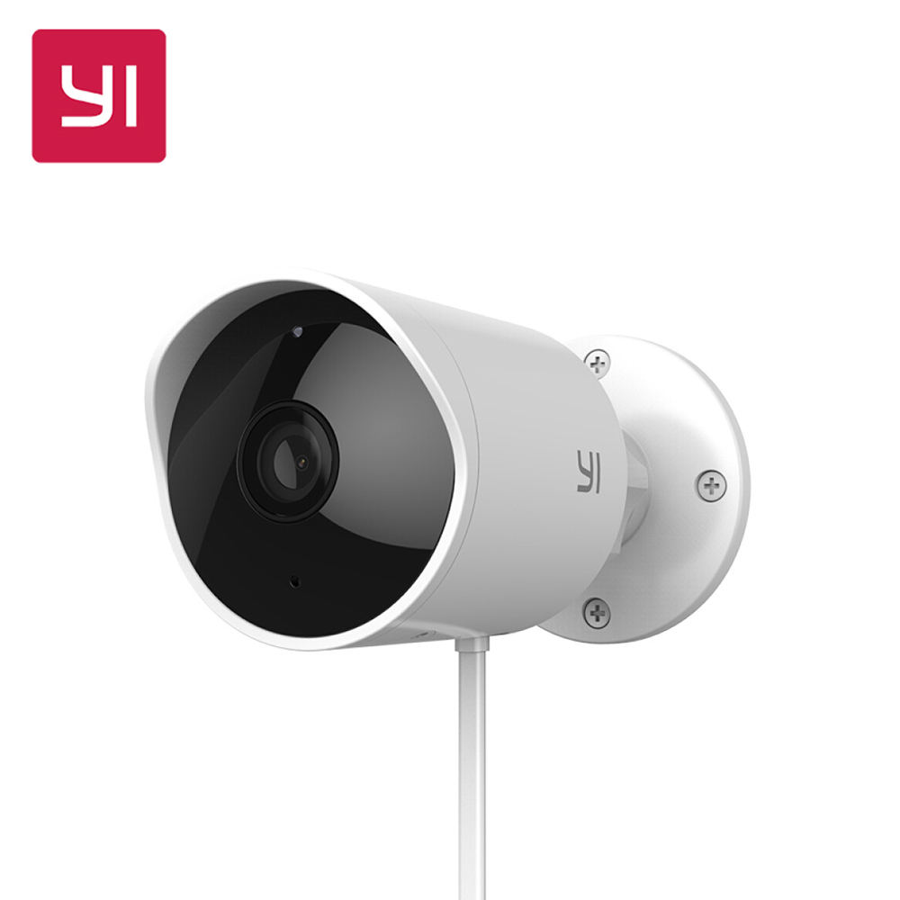 Original YI Outdoor Security Camera Cloud Camera Wireless IP 1080P Resolution Waterproof Night Vision Security Surveillance