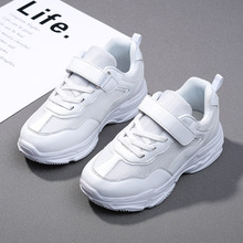 Childrens white shoes 2019 spring new breathable mesh face girls casual childrens sports