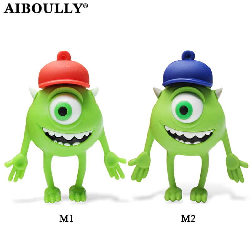 Retobo Usb 2.0 נחמד מייק Wazowski Pendrive Personalizado 64GB 32GB עט כונן 16GB 8GB 4GB Usb Creative Creative Cartoon עט כונן
