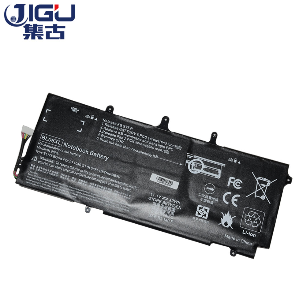 JIGU Laptop Battery BL06042XL BL06XL HSTNN-DB5D IB5D W02C For HP For EliteBook Folio 1040 G0 G1 G2 F2R72UT L7Z22PA L9S82PAJIGU Laptop Battery BL06042XL BL06XL HSTNN-DB5D IB5D W02C For HP For EliteBook Folio 1040 G0 G1 G2 F2R72UT L7Z22PA L9S82PA