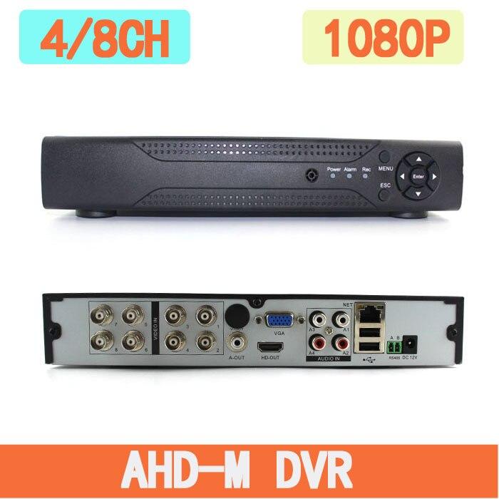 Multifunctional 4CH/8CH 1080N TVI.CVI .AHD-NH 5 In1 Hybrid DVR/1080P NVR Video Recorder AHD DVR For AHD/Analog Camera IP Camera цена 2017