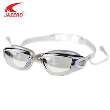 JAZERO Men Women Swimming Goggles Professional Anti Fog Swim Eyewear Electroplate Waterproof Glasses With Earplugs For