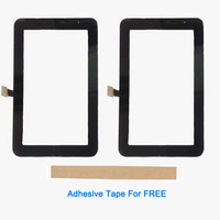 7.0 Inch For Samsung Galaxy Tab P3110 Touch Screen Glass Lens Digitizer Front Glass Sensor Black White With Adhesive Tape