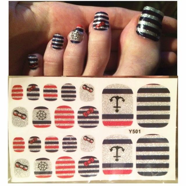 10pcs Beauty Nail Stickers Decals Uv Gel 3d Toe Nail Art Foil