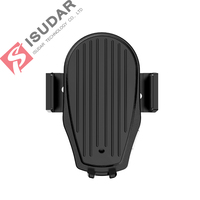 ISUDAR Qi 10W Car Wireless Charger For iPhone/Samsung/HUAWEI Mate Intelligent Infrared Fast Wireless Charging Auto Phone Holder