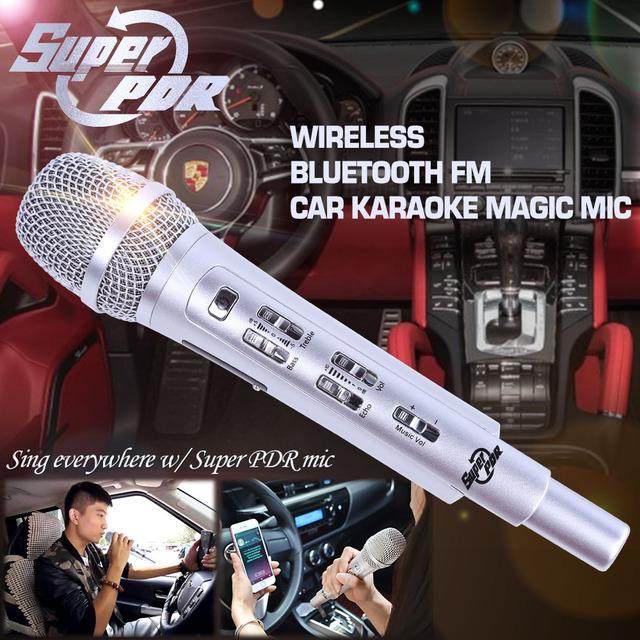 K9 FM RAD 107.6 HZ Coche Micrófono canción K Bolsillo Karaoke KTV micrófono Para IOS Android Smartphone Teléfono Mesa De PC Del Coche con altavoz