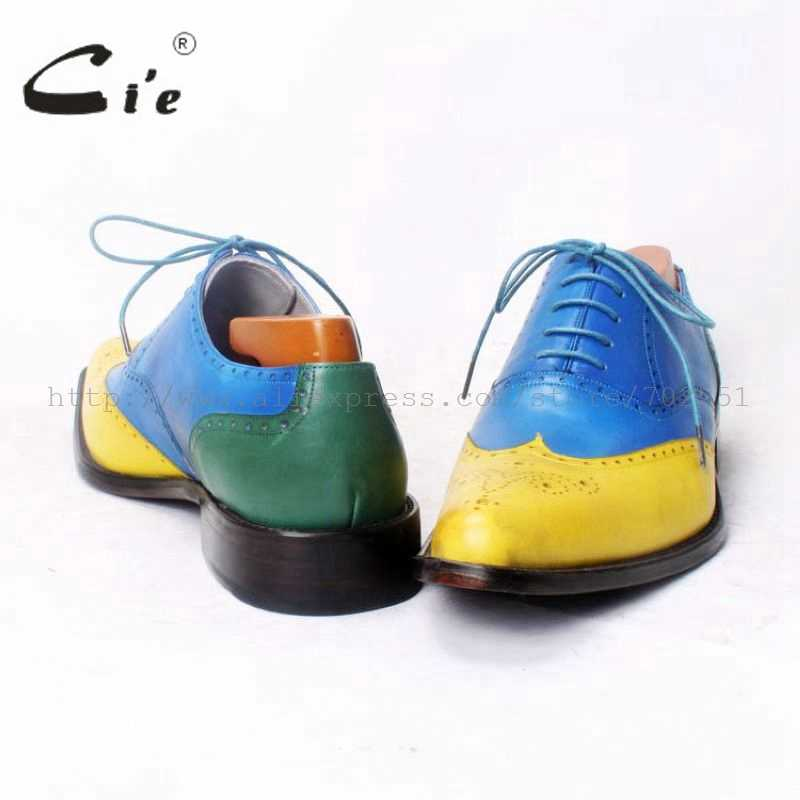Cie Ismarlama erkek ayakkabısı El Yapımı erkek ayakkabısı erkek Oxfords Saf Deri Size6-14 Dana Derisi Taban Nefes Yüksek Kaliteli OX371