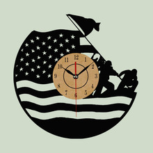 Cool Design Wall Clock CD Vinyl Record USA Modern Art Watch  Relogio Parede Decorative