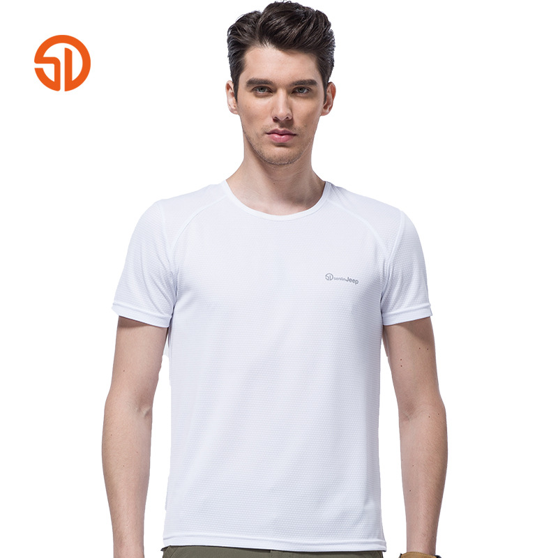 e8858975ee162 2017 Summer Senin Jeep Brand Quick Dry Slim T Shirt Men Army Green T Shirt  Short sleeve O Neck T shirt Men Top Tees Plus Size-in T-Shirts from Men s  ...