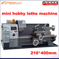 Free shipping! Best price Small household  stepless variable speed 600w /210*400mm horizontal mini hobby lathe machine