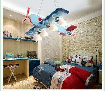 Lampu Gantung LED Pesawat Model Lampu Kamar Anak-anak Lampu Gantung Kreatif Kartun Cute LED Lampu Kamar Anak Kamar Dekorasi Rumah