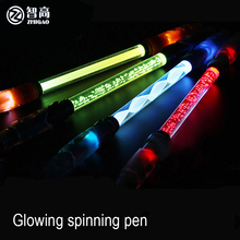 Продажа Чжигао светящийся вращающийся ручка для школы канцелярские шариковая ручка стационарные маркеры, ручки повернуть для прокрутки многофункциональная ручка блестящие
