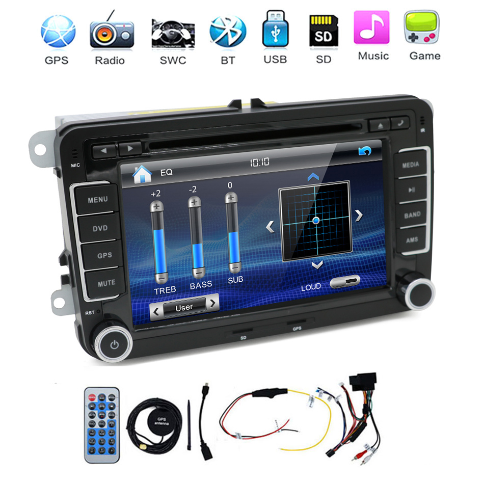 Auto Video 2din CAR DVD PLAYER For VW Tiguan/Scirocco/Touran AUTO PC GPS Headunit Radio A2DP BT Stereo VCD canbu video parking joyous vw 8 car dvd player w radio gps analog tv bt canbus for polo jetta tiguan turan passat