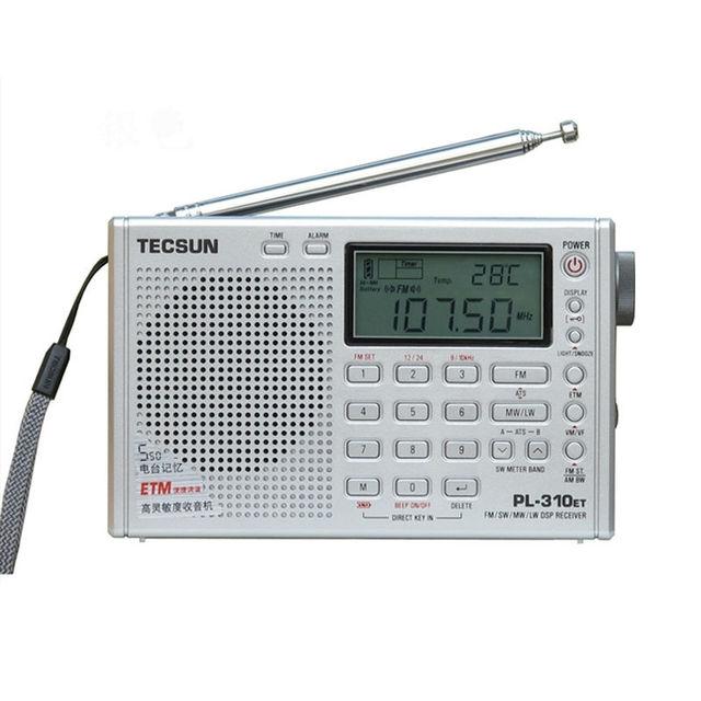Tecsun pl-310et radio de banda completa demodulador digital fm/am/sw/lw radio estéreo tecsun pl310et freeshipping