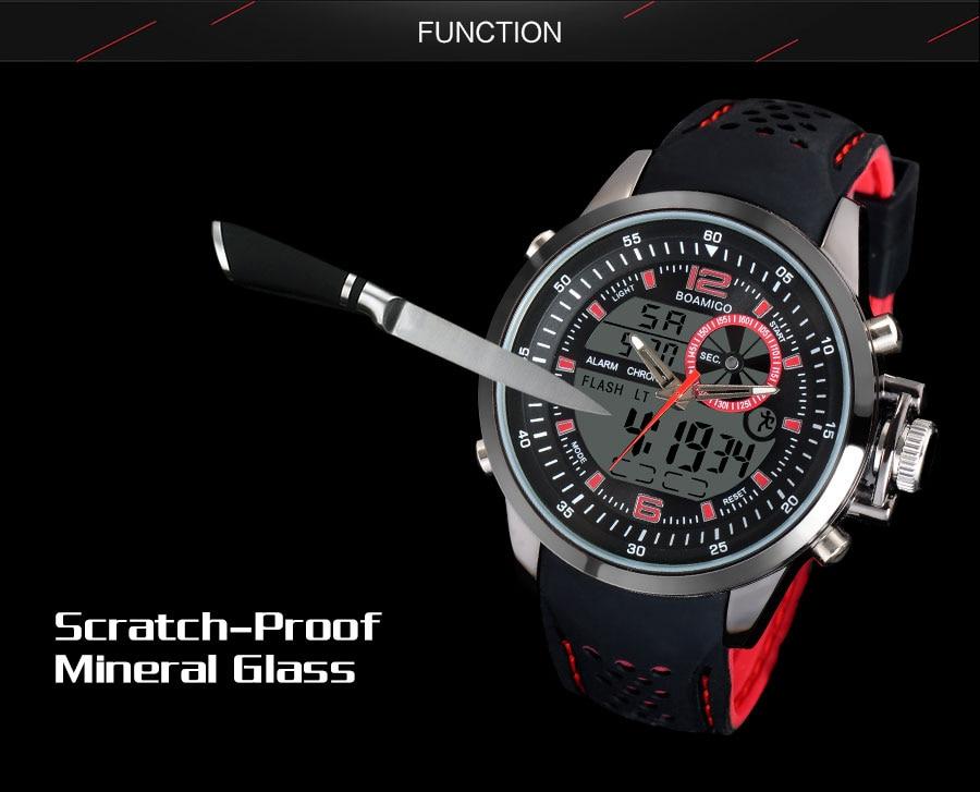 IsMyStore: BOAMIGO brand men sports watches dual time digital watch rubber analog quartz watch  swim chronograph wristwatches reloj hombre