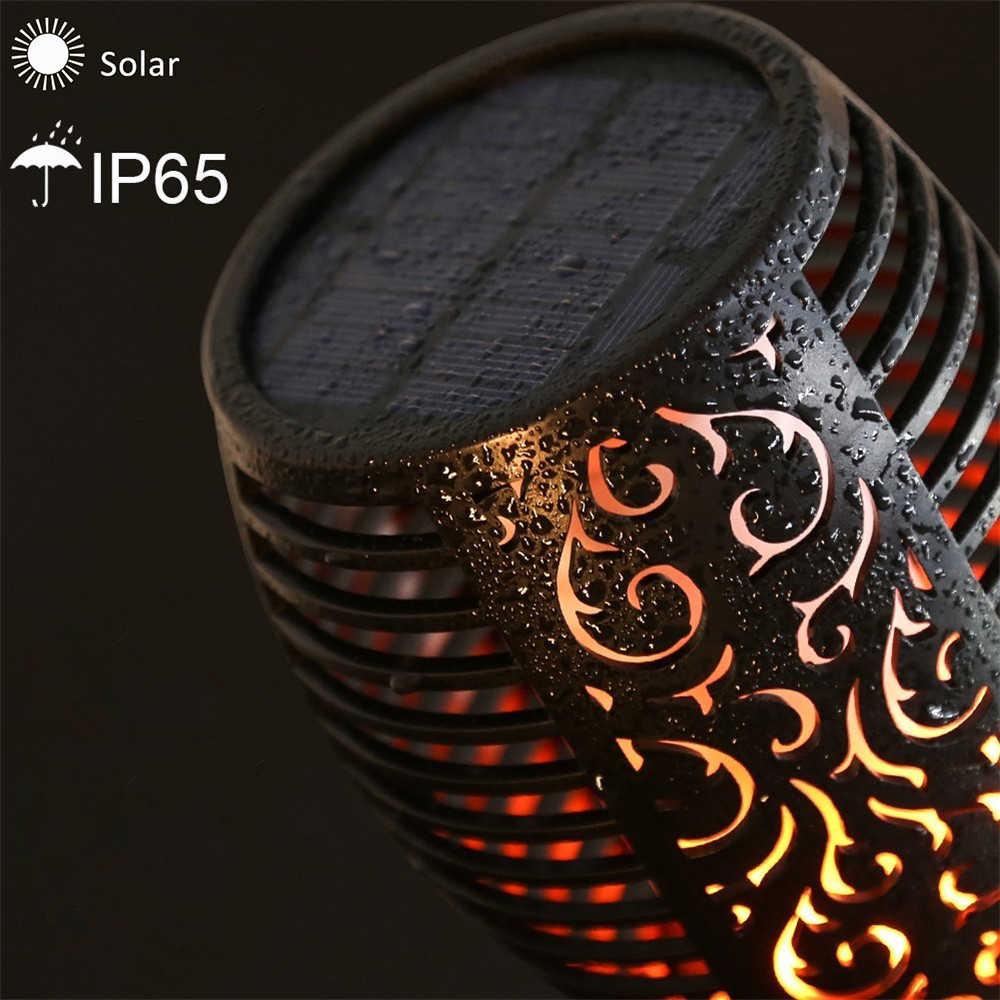 Solar Flamme Lampe Flackern IP65 Wasserdichte Outdoor Landschaft Yard Garten Licht Pfad Beleuchtung Taschenlampe Licht Rasen Lampe Scheinwerfer