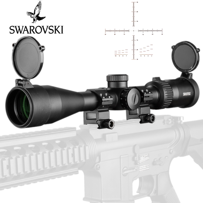 SWAROVSKl 4-16X50 Riflescope Full Size IR F191 Red Illuminated Glass Etched Reticle Turrets Reset collimator