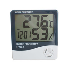 Buy LCD Digital Thermometer Hygrometer Indoor Electronic Temperature Humidity Meter Clock Weather Station