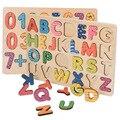 Деревянные буквенно-цифровой головоломки, развитию интеллекта детей образование игрушки, Магнитные Головоломки, Математические Игрушки