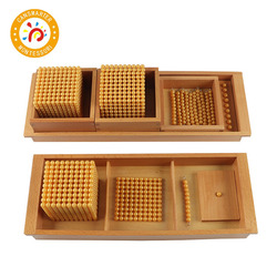 Montessori Math Educational Toys Gold Beads Material Symbols With Trays Kids Teaching Aids Children Toys