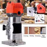 110V 750W 35000PRM 1/4'' Electric Wood Trimmer Laminator Router Joiners Tool Electric Hand Trimmer Wood Laminator Router Joiners