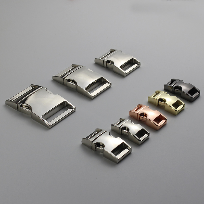 High Quality Metal 10mm 15mm 20mm 25mm Side Release Curved Buckle For Paracord Bracelet Dog Cat Collar Buckles Diy Accessories