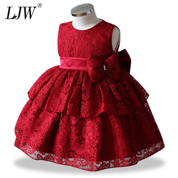 c85bc4b60d4 Vestido de tutú de encaje de princesa bebé niña vestido de boda Vestidos de  fiesta para bebé 1 año cumpleaños