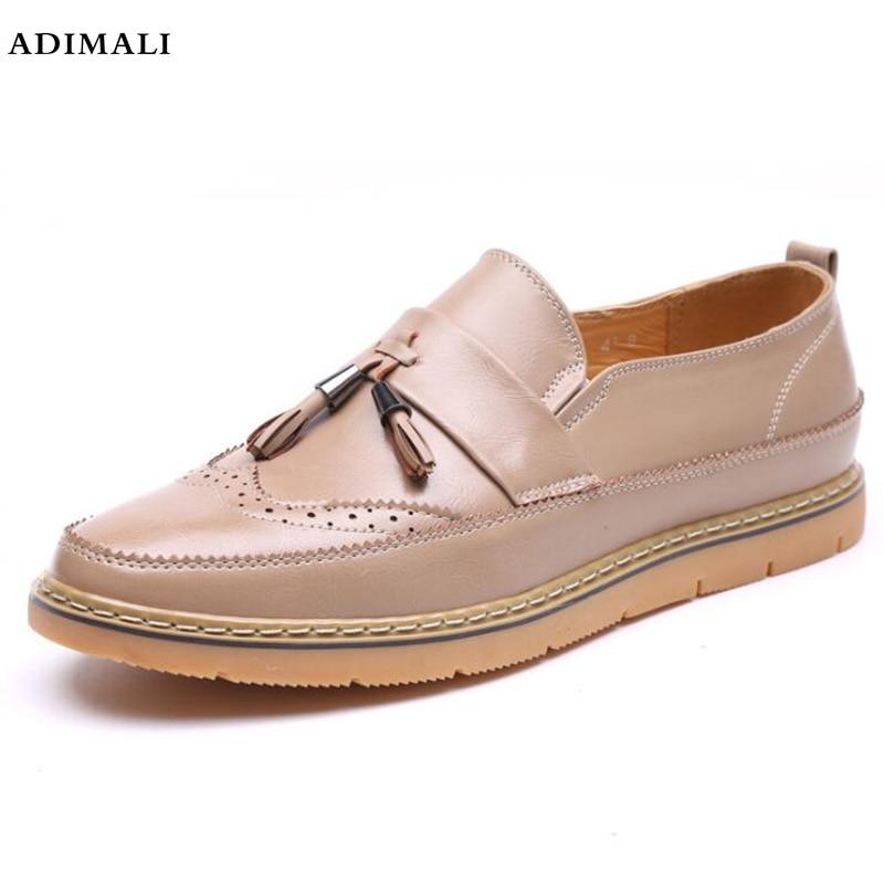 Véritable Hommes En Cuir Mocassin Chaussures Noir Hommes Appartements Respirant Casual Italien Mocassins Confortable Plus La Taille 37-44 Conduite Chaussures