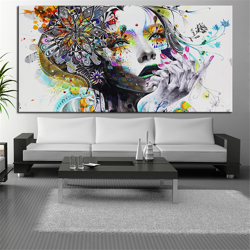 extra sizes wall art prints fine art prints beauty oil painting wall decor female painting for. Black Bedroom Furniture Sets. Home Design Ideas